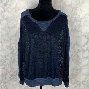 Open Lace Sweatshirt